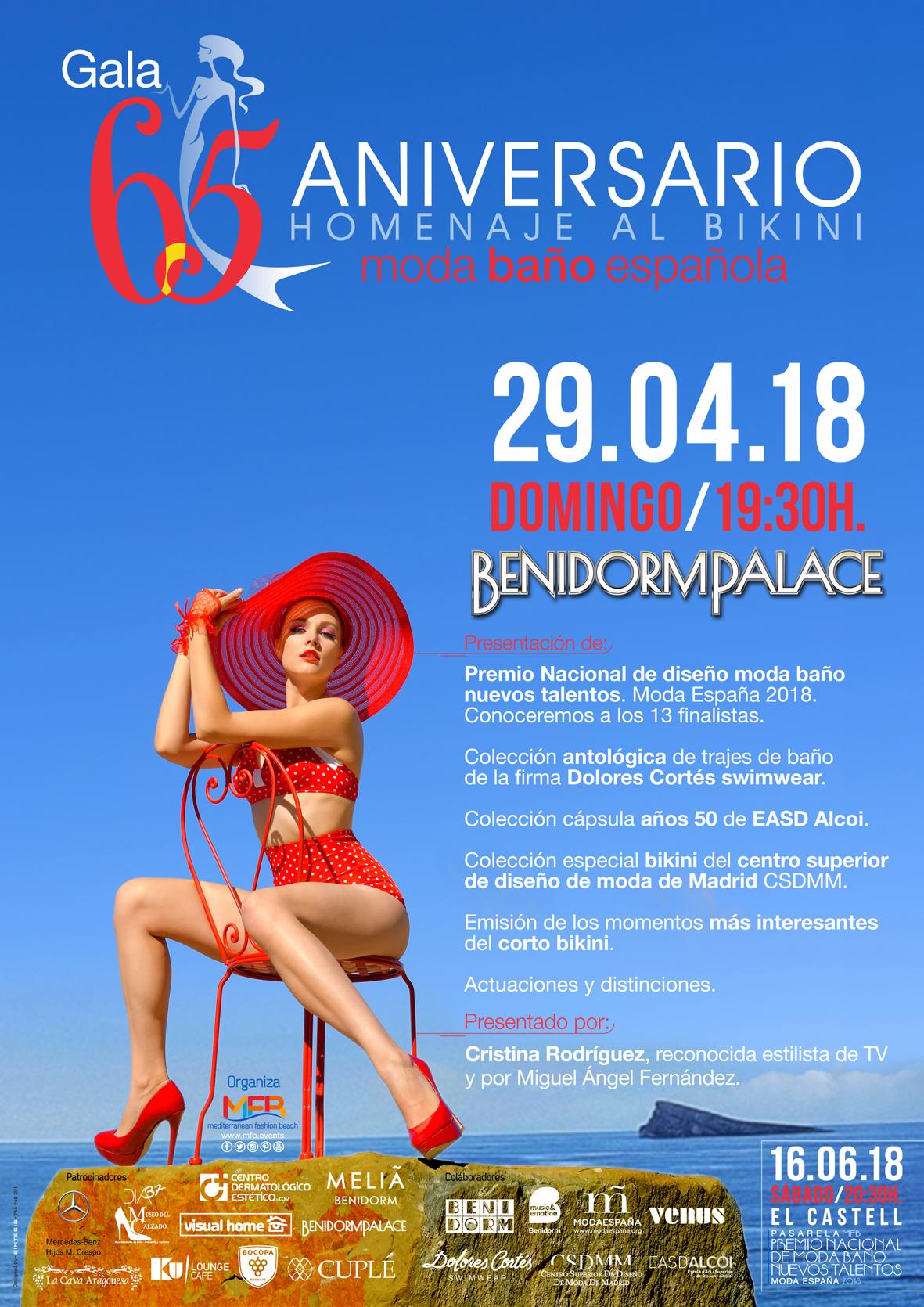 Gala 65 Aniversario homenaje al bikini moda baño Española